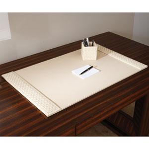 Woven Ivory Desk Blotter