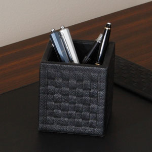Woven Black Pencil Cup