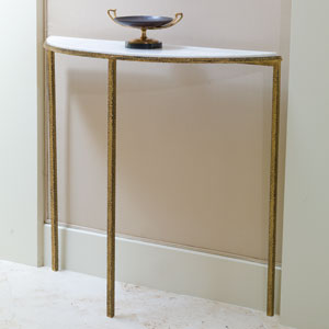 Hammered Gold Console