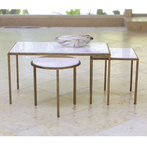 Hammered Gold Square Table