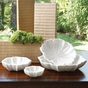 Marble Large Petal Bowl