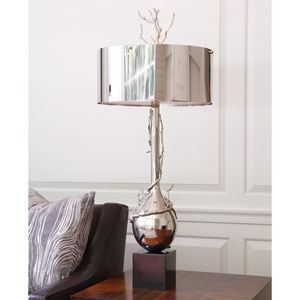 Nickel Twig Two-Light Table Lamp