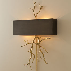 Brass Twig Two-Light Hardwired Wall Sconce