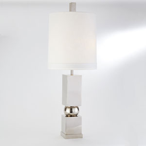 Squeeze Nickel Two-Light Lamp