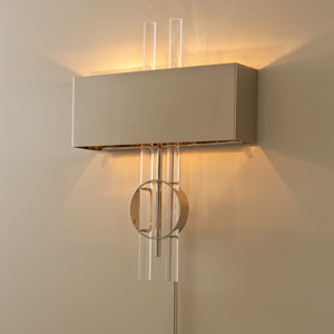 Radio City Electrified Nickel Two-Light Wall Sconce
