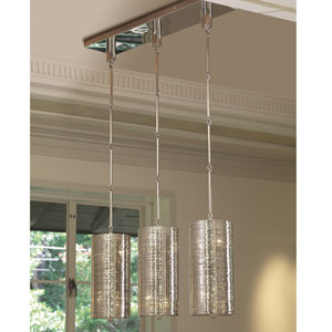 Polished Nickel Coil Six-Light Pendant