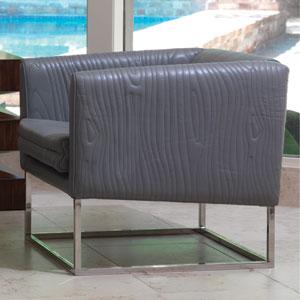 Faux Bois Gray Tuxedo Chair