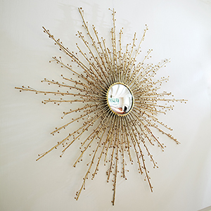 Berries Brass Mirror