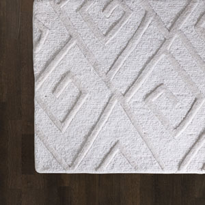 Maze Ivory Rectangular: 5 Ft. x 8 Ft. Area Rug