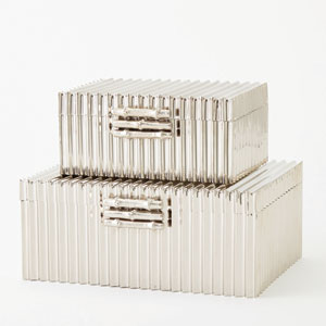 Corrugated Nickel Large Bamboo Box