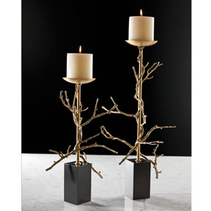 Brass Small Twig Candle Holder Only