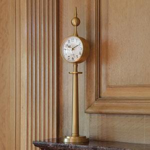 Tower Brass Clock