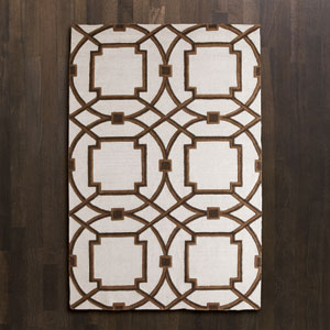 Arabesque Mocha Rectangular: 5 Ft. x 8 Ft. Area Rug