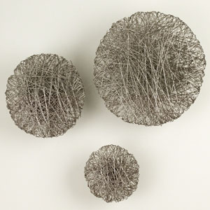 Wired Nickel Large Wall Disc