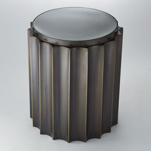 Fluted Bronze Column Table