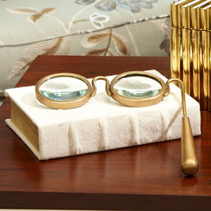 Lorgnette Brass Magnifying Glass