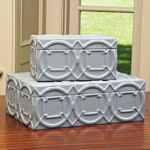 Arabesque Gray Large Trapunto Box