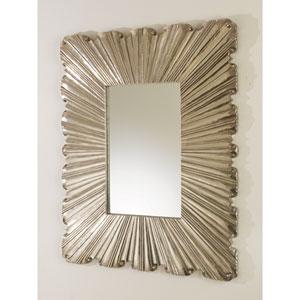 Linen Silver Fold Mirror