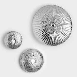 Sea Urchin Large Nickel Wall Sculpture