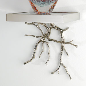 Nickel Twig Wall Shelf