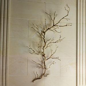 Brass Twig Wall Art