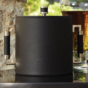 Black Double Handle Ice Bucket