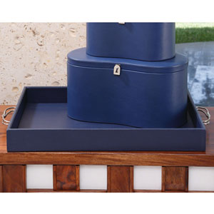 Ink Blue Midtown Leather Tray Only