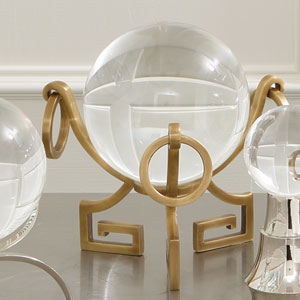 Brass Greek Key Stand