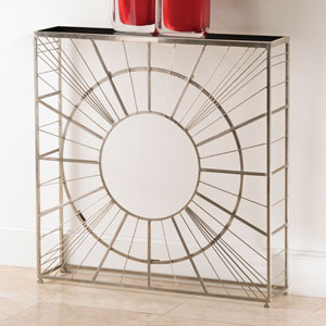 Radial Nickel Console Table
