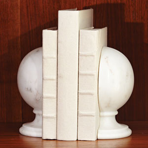 Marble Sphere Bookends
