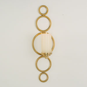 Progressive Brass Ring Sconce