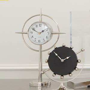 Pointed Star Nickel Clock