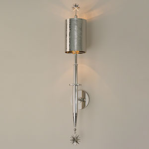 Star Arm One-Light Nickel Wall Sconce