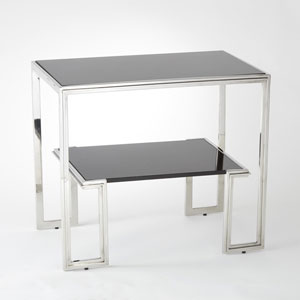 One-Up Stainless Steel End Table