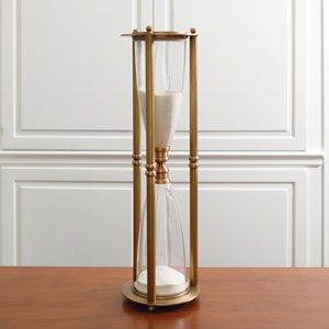 Hour Glass in Antique Brass
