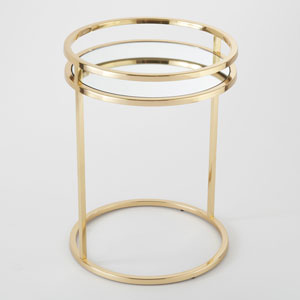 Ring Brass End Table