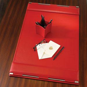 Flap Crimson Desk Blotter