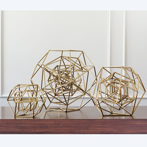 Geo Gold Medium Sculpture