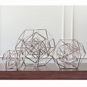 Geo Nickel Large Sculpture