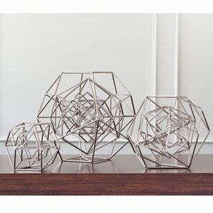 Geo Nickel Medium Sculpture