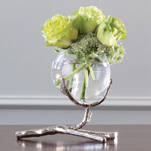 Twig Nickel Vase Holder