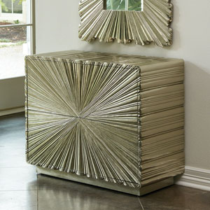 Linen Fold Two-Drawer Silver Chest