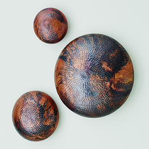 Burnt Copper Large Wall Disc