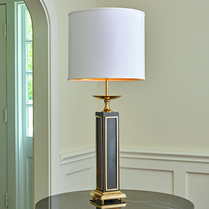 Greco Brass and Bronze One-Light Large Lamp
