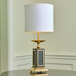 Greco Brass and Bronze One-Light Small Lamp