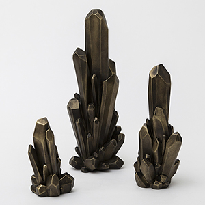 Facet Bronze Large Cluster
