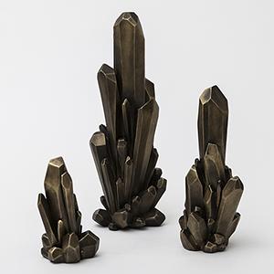 Facet Bronze Medium Cluster