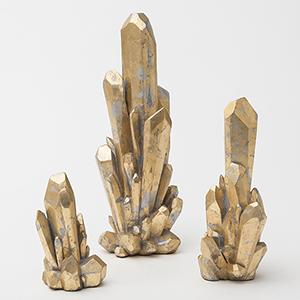 Facet Gold Medium Cluster