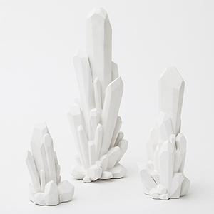 Facet White Medium Cluster