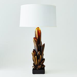 Facet Bronze Cluster One-Light Lamp